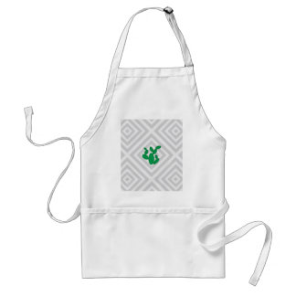 Cactus - Abstract geometric pattern - gray. Adult Apron