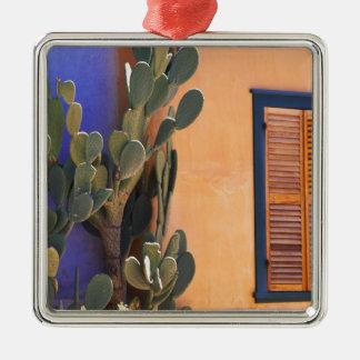 Cactus al sudoeste (dejecta de la Opuntia) y Adorno Navideño Cuadrado De Metal