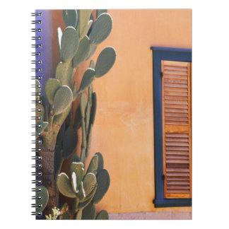 Cactus al sudoeste (dejecta de la Opuntia) y Libreta