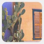 Cactus al sudoeste (dejecta de la Opuntia) y Calcomania Cuadradas Personalizadas