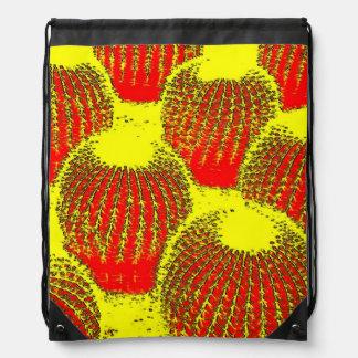 Cactus anaranjados mochilas