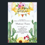 """Cactus and Floral Bridal Shower Fiesta Invitation<br><div class=""""desc"""">Enjoy this fun watercolor fiesta invitation! It&#39;s great for a summer bridal shower event to celebrate the bride to be!</div>"""
