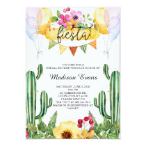 Cactus and Floral Bridal Shower Fiesta Invitation