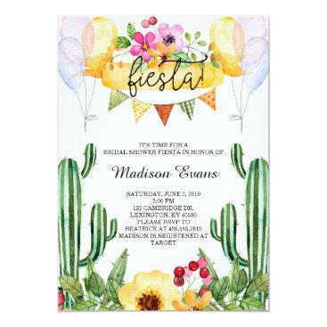 lilanab2 Cactus and Floral Bridal Shower Fiesta Invitation