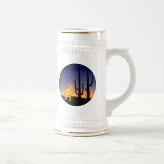 Cactus and Kokopelli Round Beer Stein