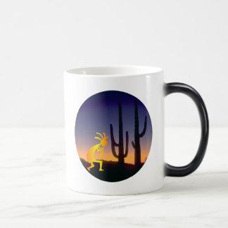 Cactus and Kokopelli Round Magic Mug