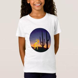 Cactus and Kokopelli Round T-Shirt