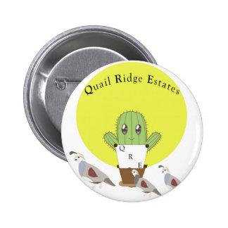 Cactus and Quails Pinback Button