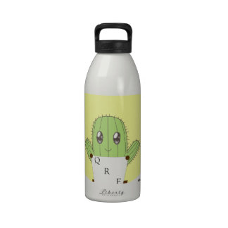 Cactus and Quails Reusable Water Bottle