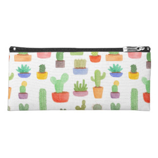 Cactus and Succulents in Pots Pattern Pencil Cases