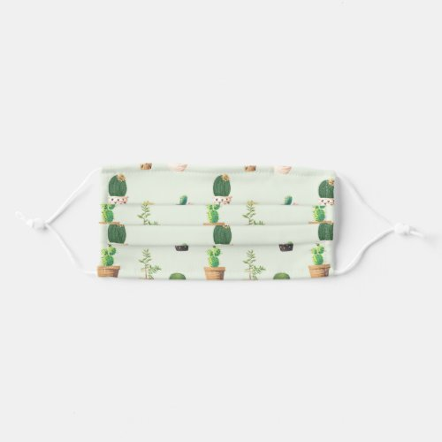 Cactus and Succulents Pattern Personalized Cloth Face Mask