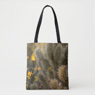 Cactus and Wildflowers Tote Bag