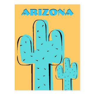 Cactus Arizona AZ del Saguaro de la postal del rec