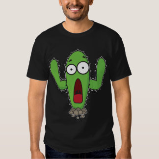 Cactus asustado playeras