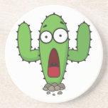 Cactus asustado posavasos diseño