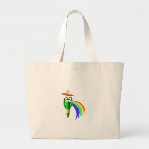 Cactus Barfing del Saguaro un arco iris Bolsa