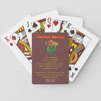 Cactus Berry Drink Recipe Poker Deck