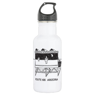 Cactus Billboard on Route 66 in Arizona Stainless Steel Water Bottle