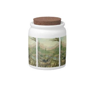 Cactus Bird Candy Jar