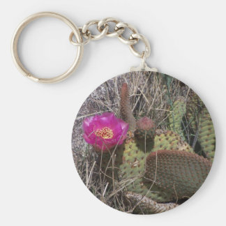 cactus bloom key chain