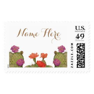 Cactus Blooms Stamp