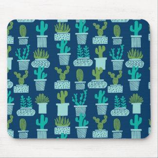 Cactus Blue Terrarium Succulent / Andrea Lauren Mouse Pad