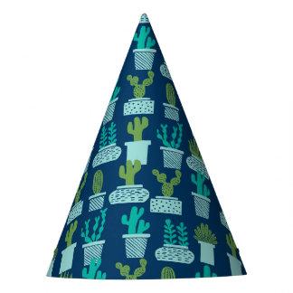 Cactus Blue Terrarium Succulent / Andrea Lauren Party Hat