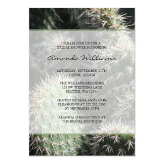 Cactus Bridal Shower 5x7 Paper Invitation Card