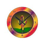 Cactus brillante reloj