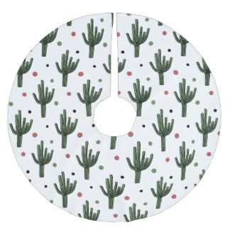 Cactus Brushed Polyester Tree Skirt
