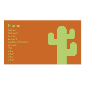 Cactus - Business Double-Sided Standard Business Cards (Pack Of 100)