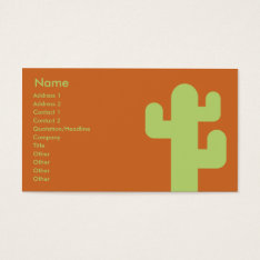 Cactus - Business Business Card at Zazzle