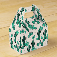 Cactus / Cacti Green Cream Tropic / Andrea Lauren Favor Box