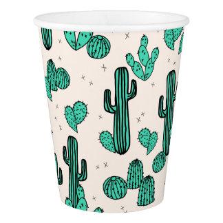 Cactus / Cacti Green Cream Tropic / Andrea Lauren Paper Cup