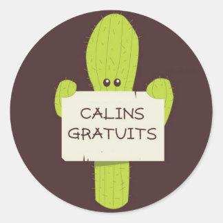 Cactus Calin Etiquetas Redondas