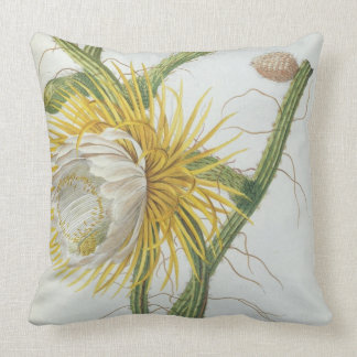Cactus: Cereus, from Trew's 'Plantae Selectae' 175 Throw Pillow
