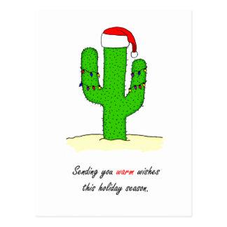 Cactus Christmas Postcard
