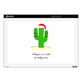 """Cactus Christmas Decals For 17"""" Laptops"""