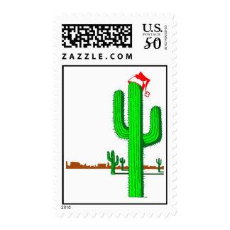 Cactus Christmas Tree - Postage Stamp