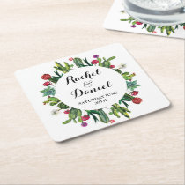 Cactus Coaster Wedding Party Cacti Fiesta