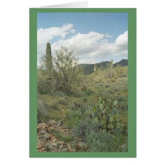 Cactus Coloring Desert Note Card or Greeting Card