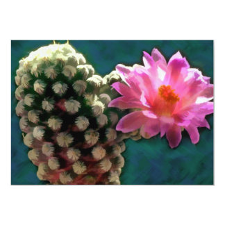 Cactus con la floración Sunlit rosada