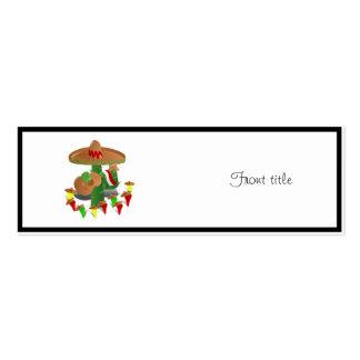 Cactus con pimientas del baile tarjeta de visita