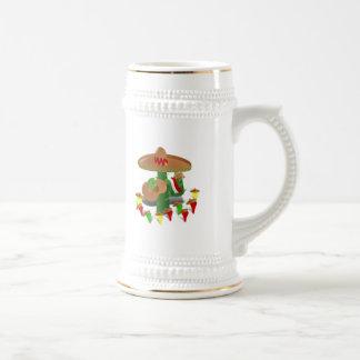 Cactus con pimientas del baile tazas