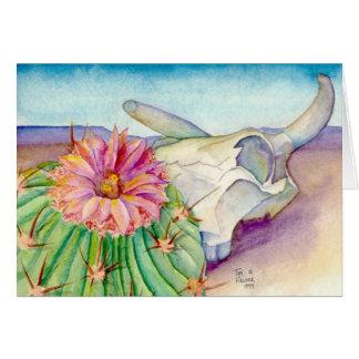 Cactus, cráneo, y distancia - beneficie a Kairos Tarjeta De Felicitación
