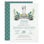 Cactus Cutlery Rehearsal Dinner Invitation