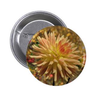 Cactus Dahlia Pinback Button