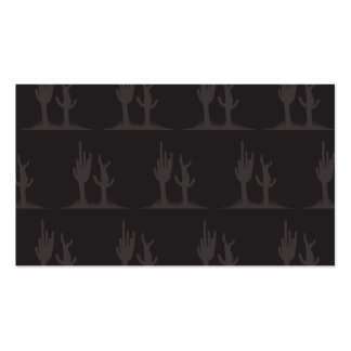 Cactus Dark Double-Sided Standard Business Cards (Pack Of 100)