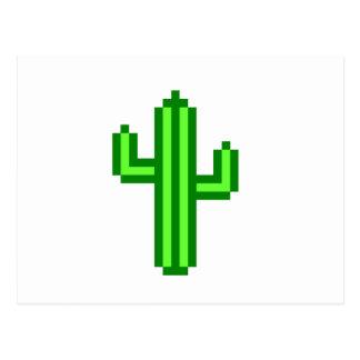cactus de 8 bits del Saguaro Tarjeta Postal