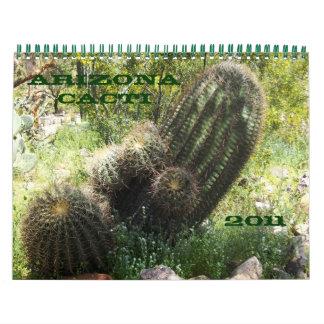 Cactus de Arizona Calendarios De Pared